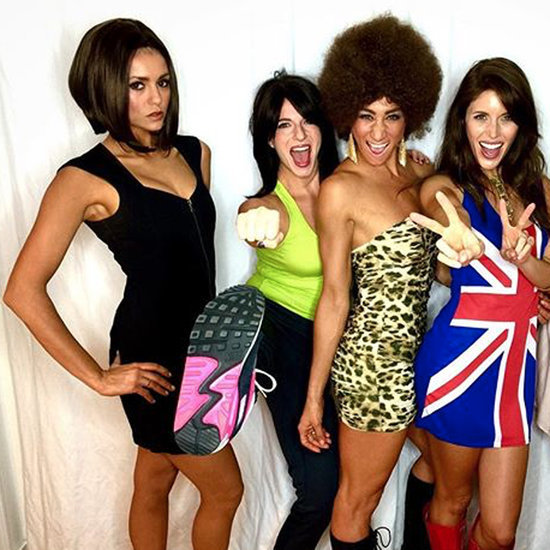 Nina Dobrev in Posh Spice Costume
