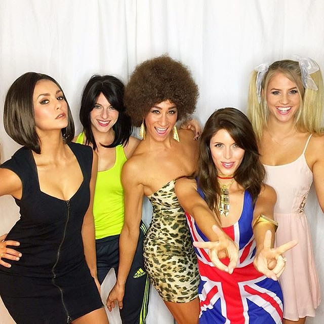 nina dobrev dressed up as posh from the spice girls