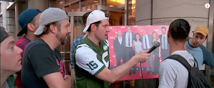 Jason Sudeikis Has a Wicked Time With Billy on the Street