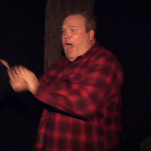 Eric Stonestreet Getting Scared in a Haunted House on Ellen