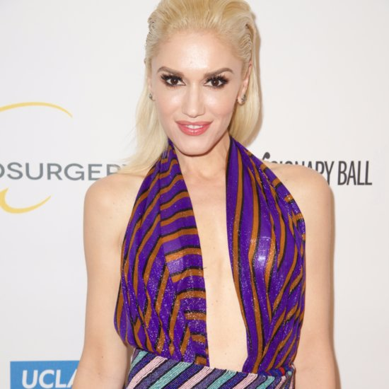 Gwen Stefani Wearing Reem Acra Dress
