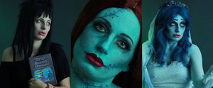 1 Woman Transforms Into 3 Tim Burton Characters in Less Than 2 Minutes