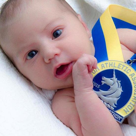 Newborn Baby Finished Boston Marathon in Utero