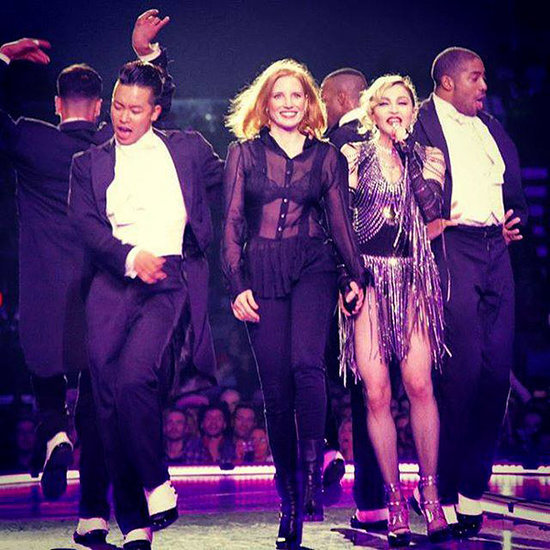 'I Gave Madonna a Spanking': Jessica Chastain Joins the Queen of Pop Onstage in Prague