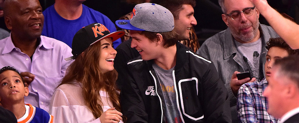 Ansel Elgort's Courtside PDA With His Girlfriend Is a Slam Dunk