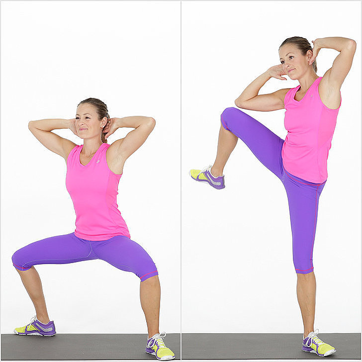 Bodyweight Exercise For the Butt | Sumo Squat Side Crunch ...