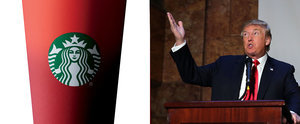 """Donald Trump on the Red Cup Controversy: """"Maybe We Should Boycott Starbucks"""""""
