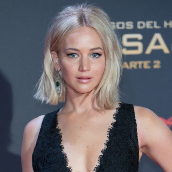 Jennifer Lawrence Trips at Madrid Premiere of Mockingjay