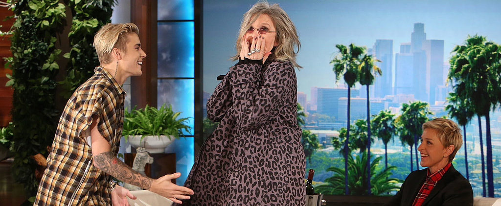 Diane Keaton Is Basically Your Drunk, Fun Aunt While Blushing and Trying to Kiss Justin Bieber