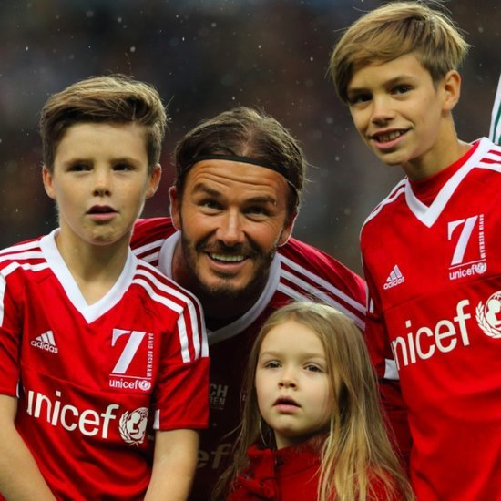 The Beckham Family at UNICEF Football Match November 2015