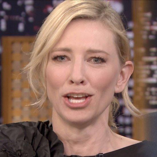 "Cate Blanchett Plays ""Lip Flip"" on Tonight Show | Video"