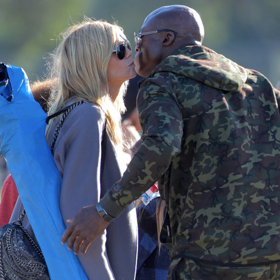Heidi Klum and Seal Kissing at Kids' Football Game