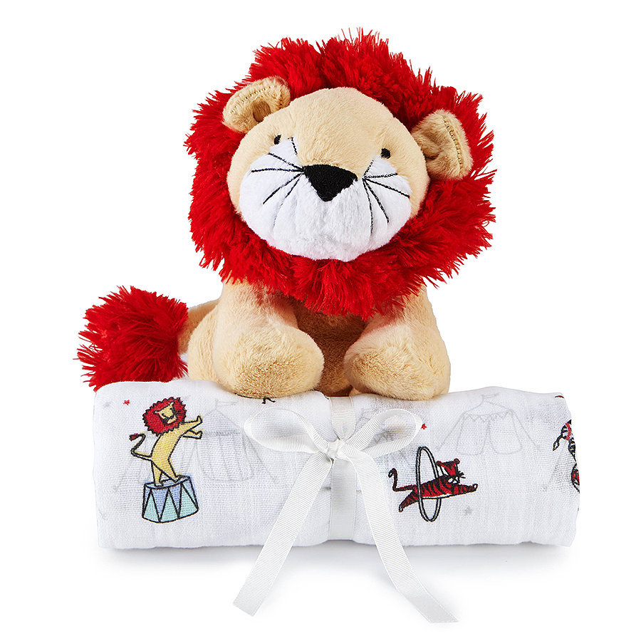 For Infants: Aden + Anais Vintage Lion Cuddly Companion