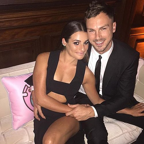 Lea Michele and Matthew Paetz 1-Year Anniversary