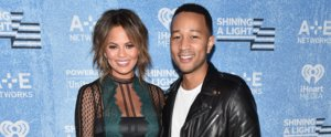 John Legend Adorably Rubs Chrissy Teigen's Baby Bump on the Red Carpet