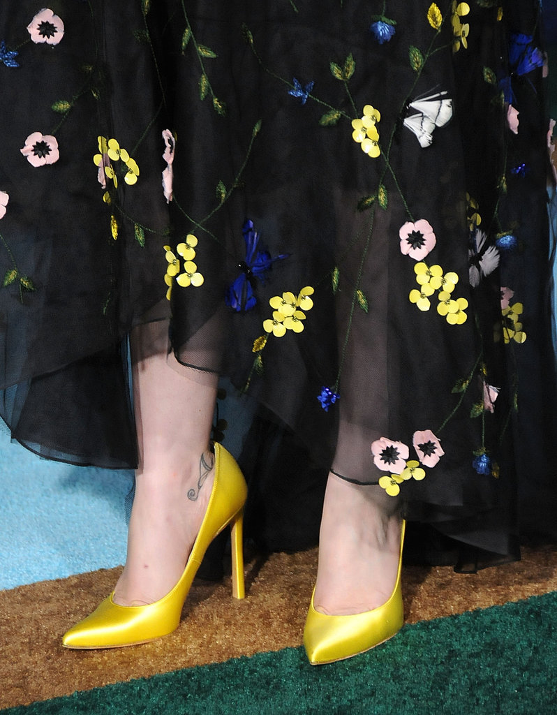 Anna was a modern-day Snow White with the addition of bright yellow pumps.