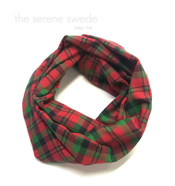 Plaid Toddler Infinity Scarf