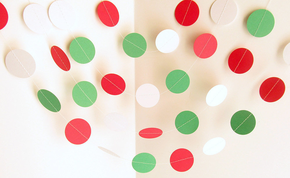 Christmas Dot Garland