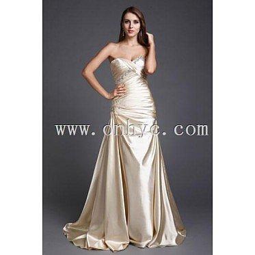 Beading Sweetheart Satin Trumpet Formal/Evening Dress