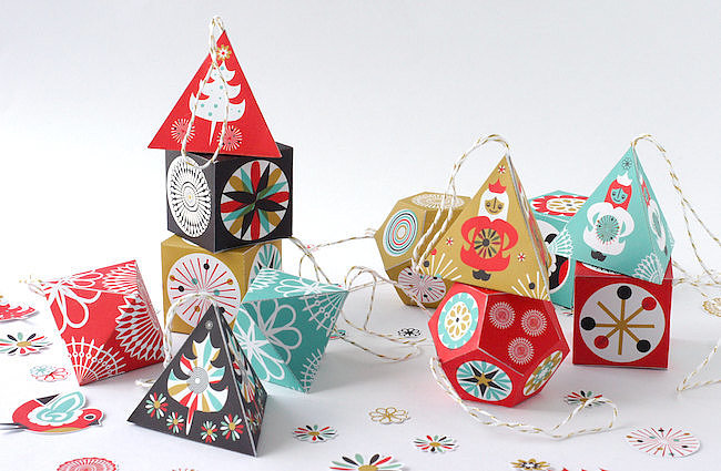 DIY Paper Scandinavian Holiday Decor