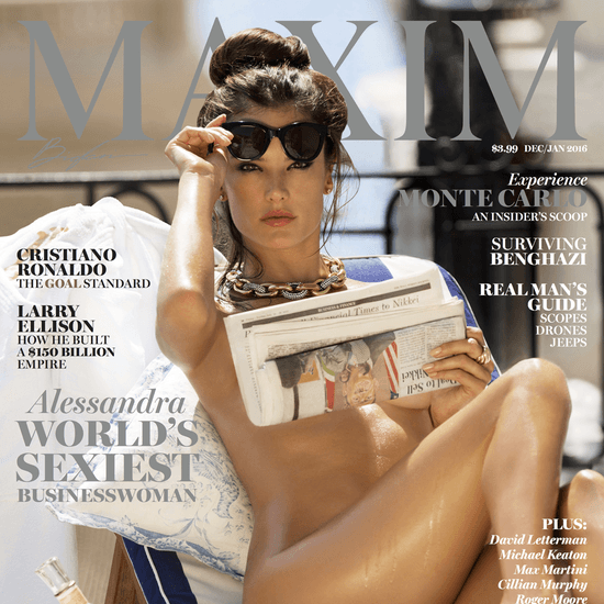 Alessandra Ambrosio Naked on the Cover of Maxim Magazine