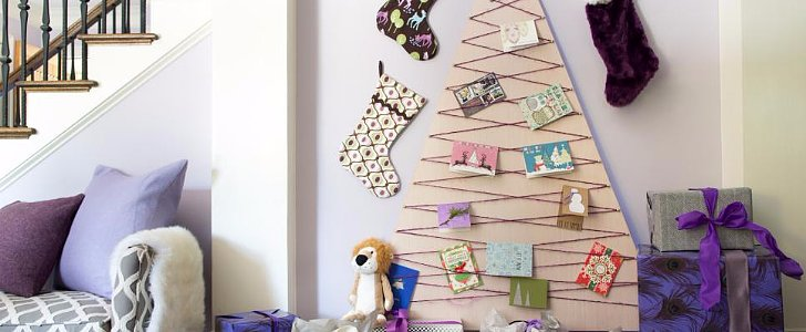 How to Pull Off This DIY Christmas Card Tree
