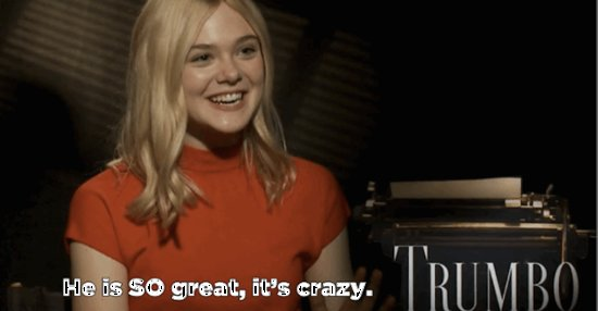 Elle Fanning Says Bryan Cranston Is As Amazing As We All Think He Is