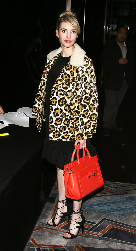Leopard coats and LBDs are a classic combination. We're so stealing this trick for the holidays!