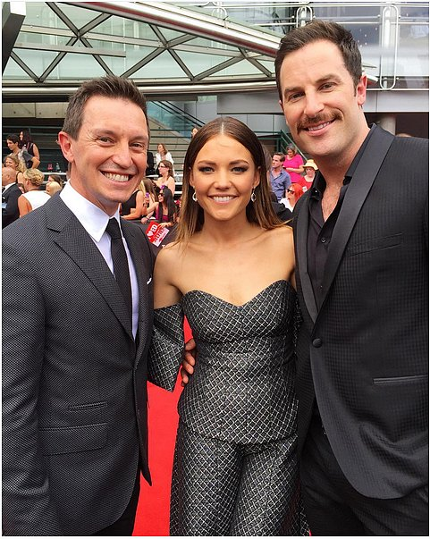 Interview with :   Rove McManus, Sam Frost and Sasha Mielczarek on Their Christmas Plans ...And Kissing Ed Sheeran