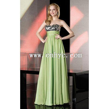 Delicate A-Line Sweetheart Natural Floor Length Chiffon Green Sleeveless Lace Up-Corset Evening Dress with Ruched and Sequin