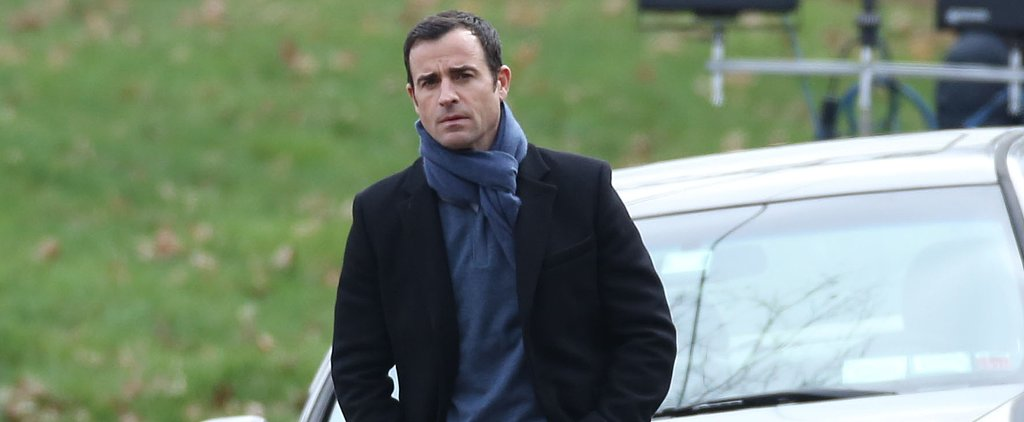 The Girl on the Train Movie Set: See What Justin Theroux Looks Like as Emily Blunt's Ex-Husband