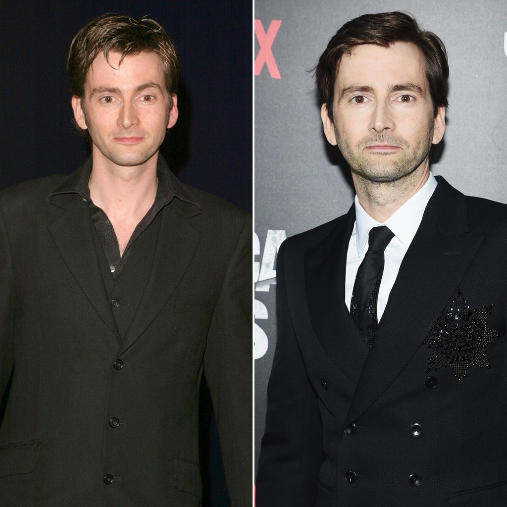 David Tennant in 2005 and 2015