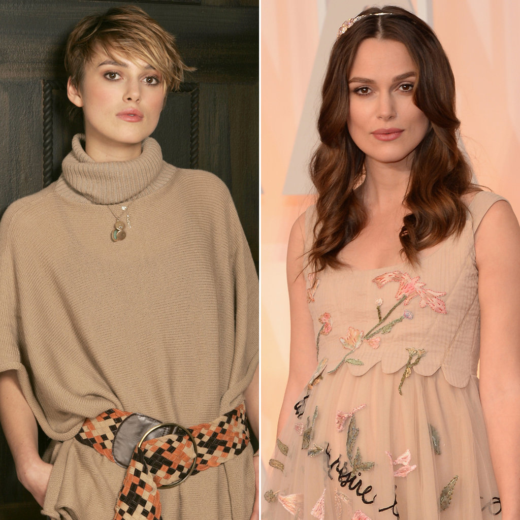Keira Knightley in 2005 and 2015