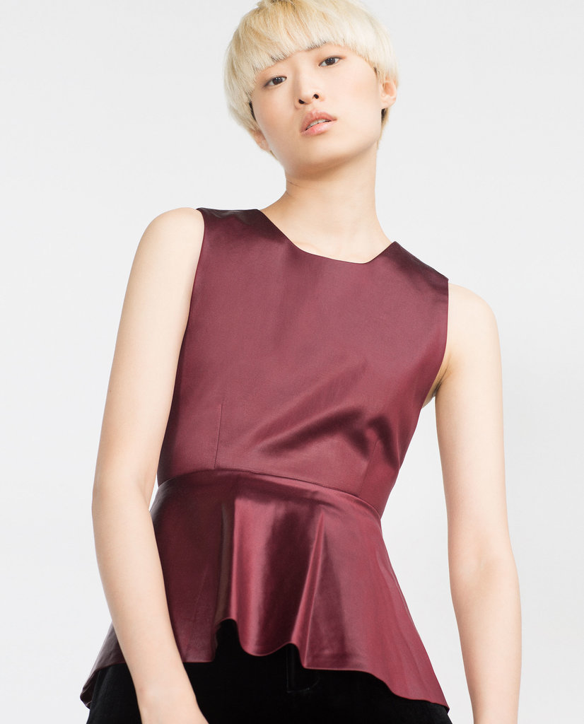 Zara Peplum Top ($70)