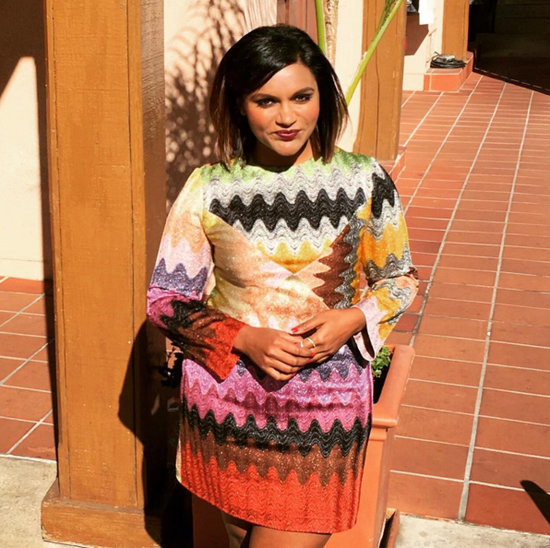 Mindy Kaling Missoni Dress on Instagram