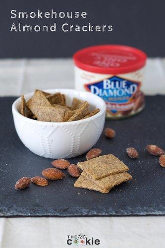DIY Smokehouse Almond Crackers - #ad #GameChangingFlavors @bluediamond #vegan #recipe #glutenfree