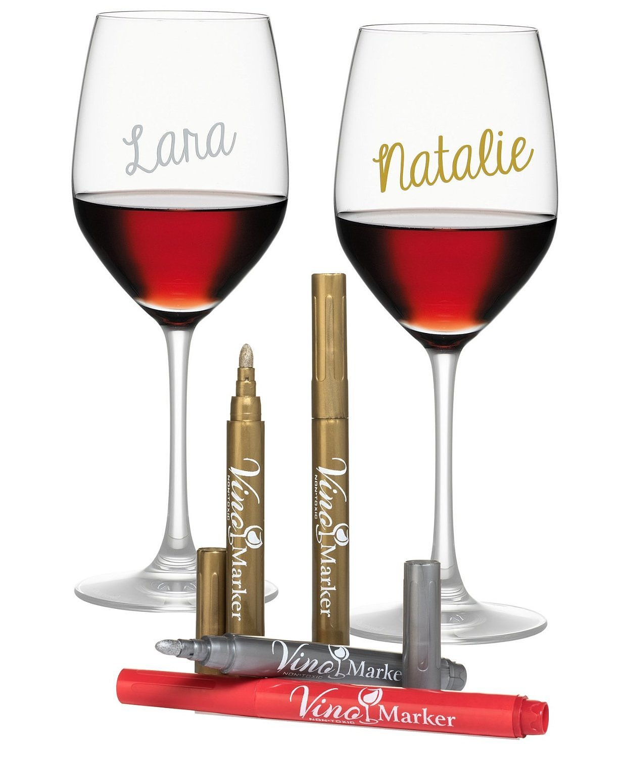 Metallic Wine Glasses : Metallic wine glass pens hostess gifts you can