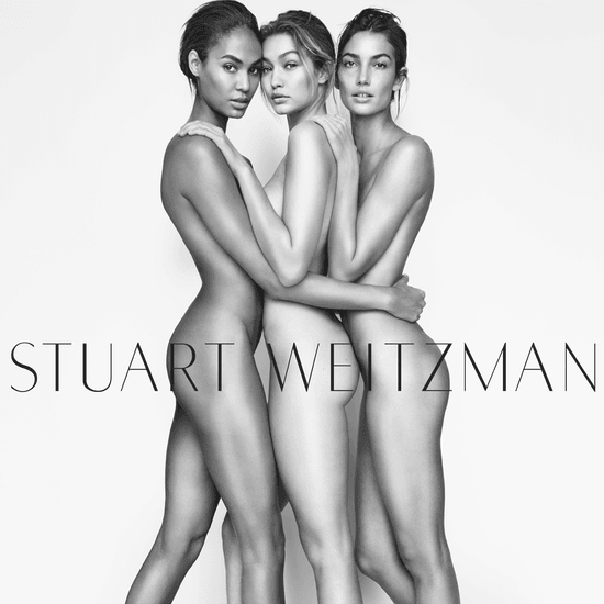 Joan Smalls Naked on Stuart Weitzman Ad Campaign