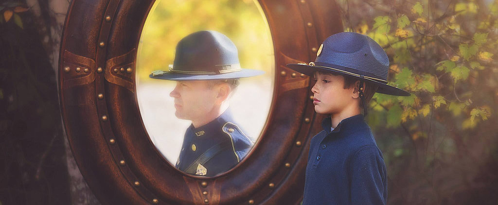 This Son Paid Tribute to His Fallen Father With a Heartbreaking Photo Shoot