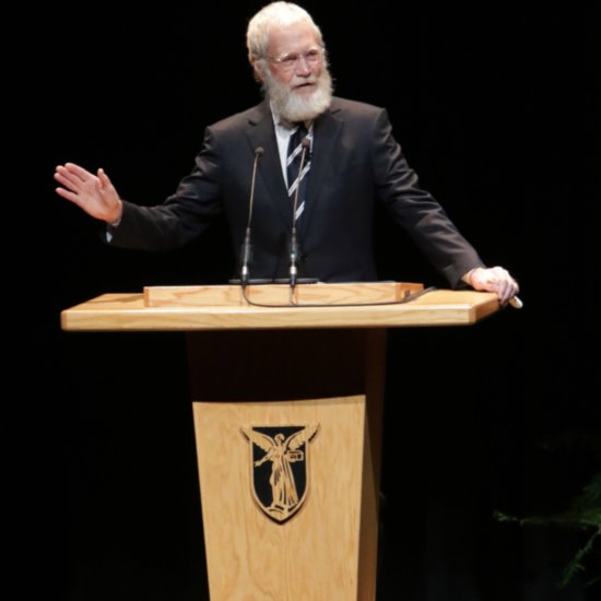 David Letterman Channels Santa Claus During His Latest Outing