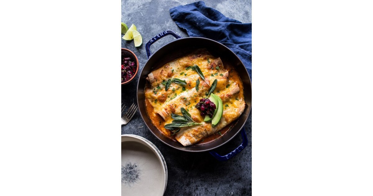 Green Chile Butternut Squash Turkey Enchiladas With Crispy ...