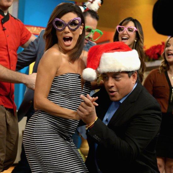 Eva Longoria Dancing on Telemundo's Nuevo Dia December 2015