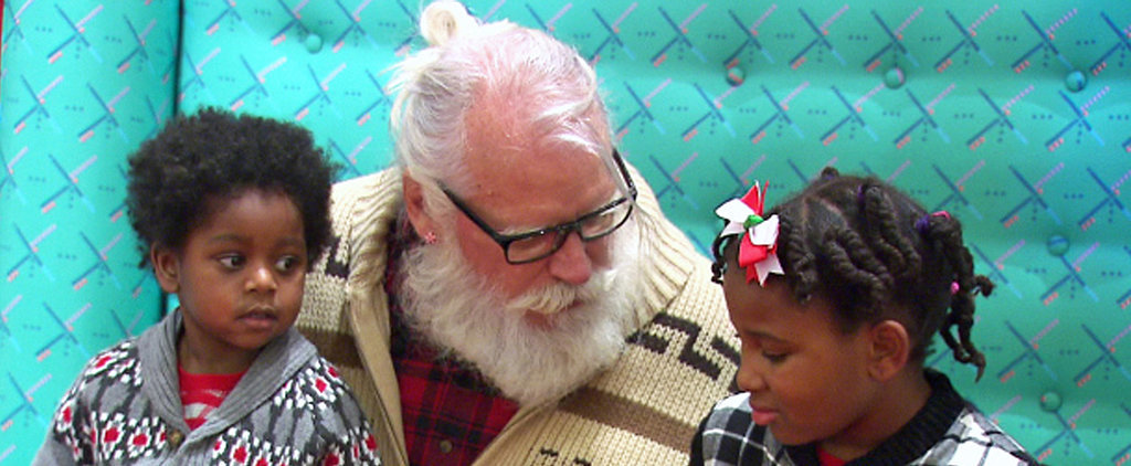 Kids Are Digging This Hipster Santa Complete with Man Bun and Cardigan