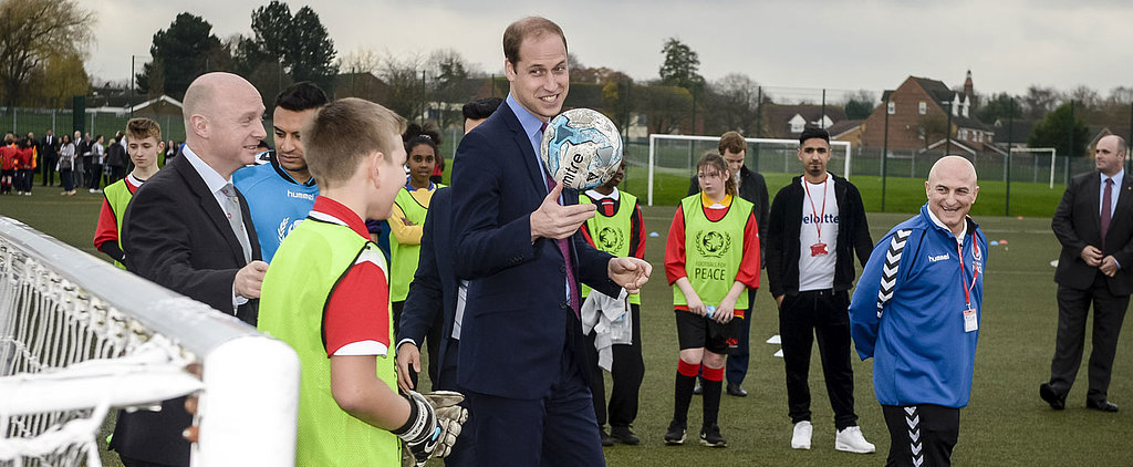 Prince William Is Such a Dad While Playing Football