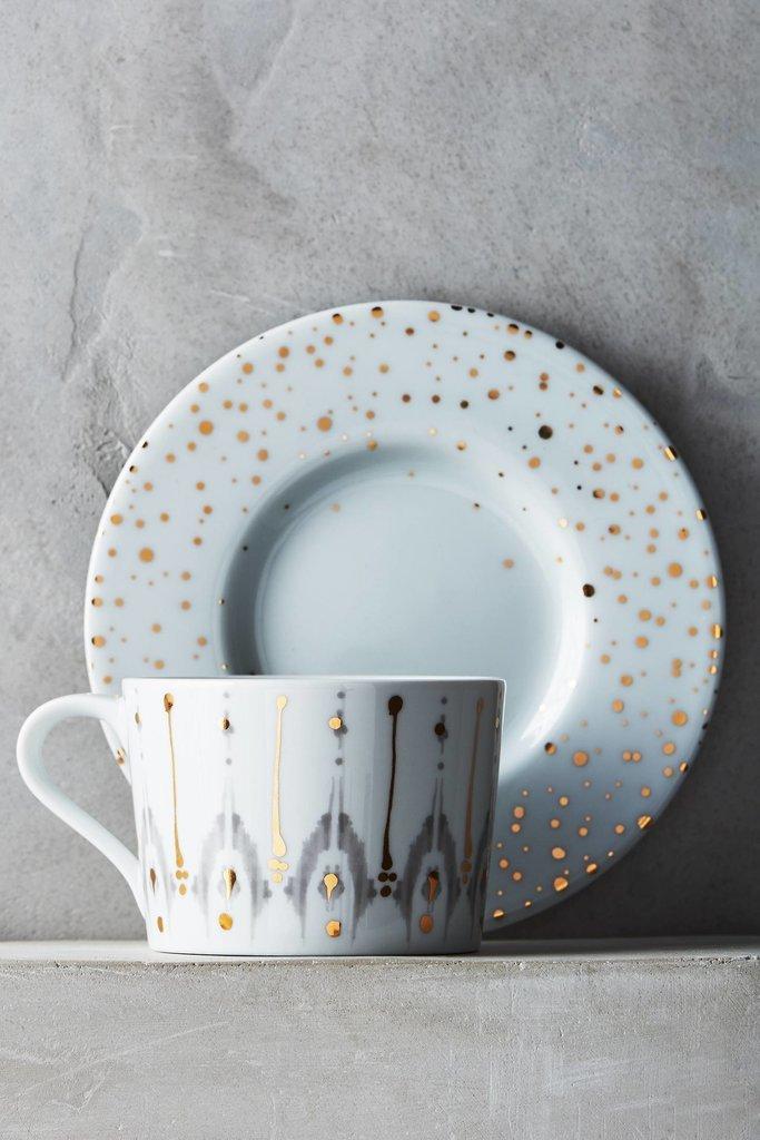Ikat Teacup and Saucer
