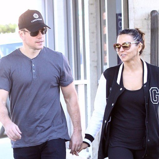 Matt Damon and Luciana Barroso Out in LA December 2015