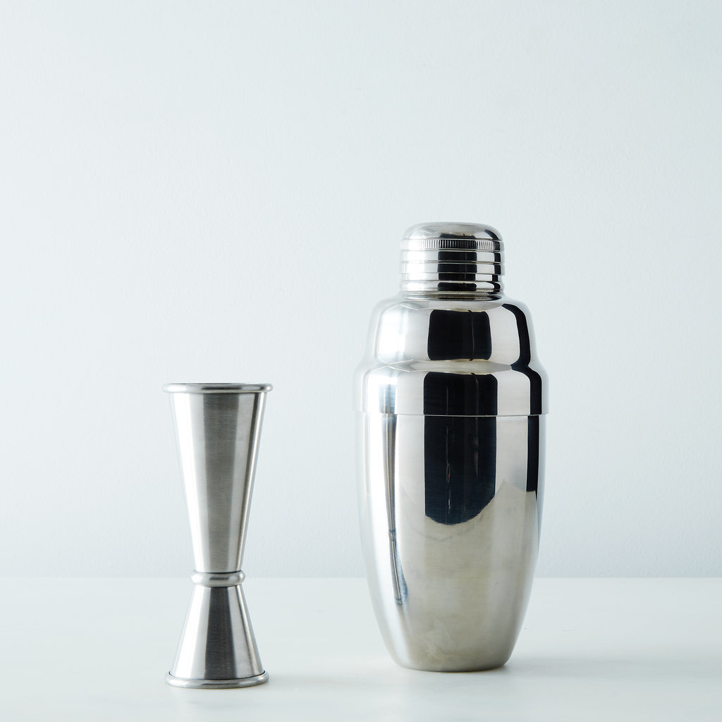Stainless Stell Cocktail Shaker and Jigger Set