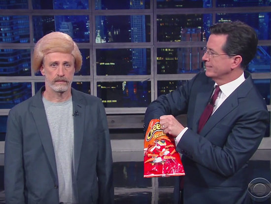 'Trump It Up a Little Bit!' Jon Stewart Transforms into the Donald with a Little Help from Stephen Colbert