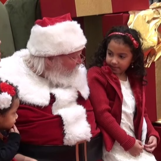 Santa Surprises Little Girl With Dad's Military Homecoming
