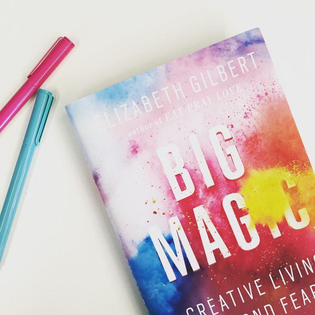 """""""'Art is a crushing chore and a wonderful privilege.' Get ready for Big Magic!! Spoiler alert: it's crazy-inspiring."""""""